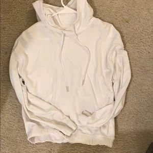 Lululemon white twist back hoodie